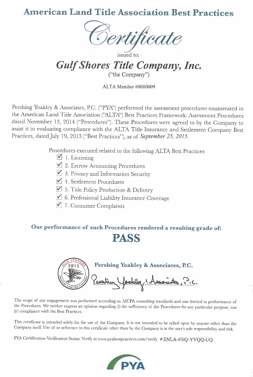 Insurance company gulf shores title foley al officially certified by the atla 1betcityfo Gallery